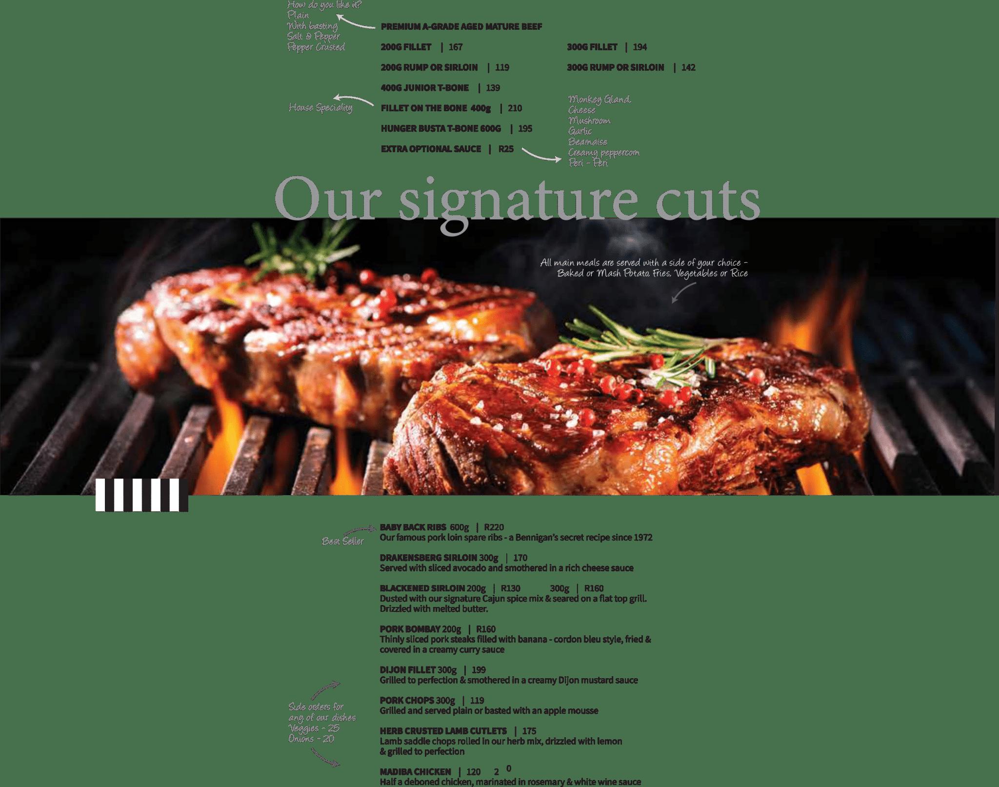Signature cuts-a